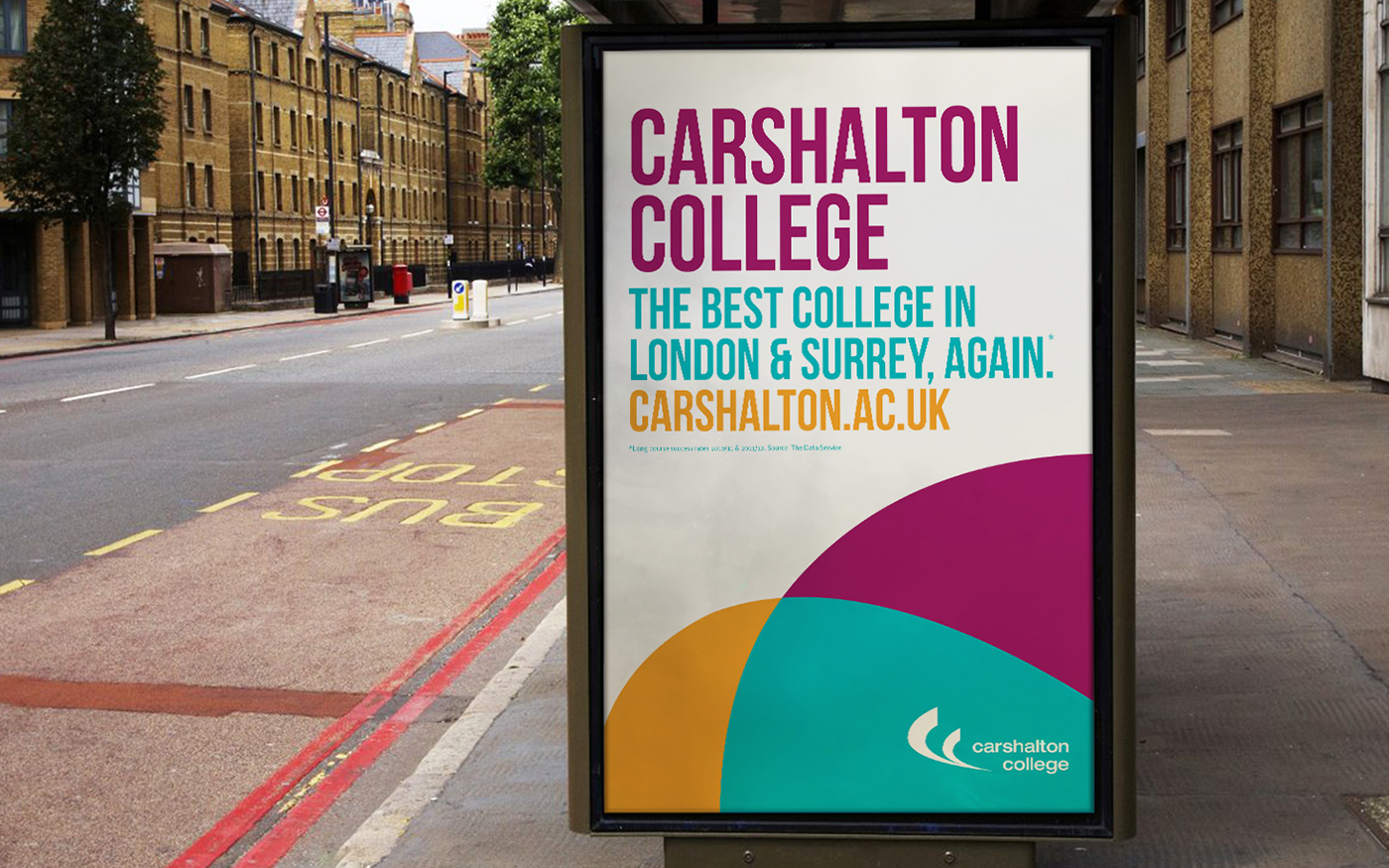 Carshalton College Bus Stop Ad
