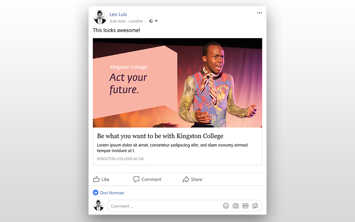 Kingston College Social Posts - Acting