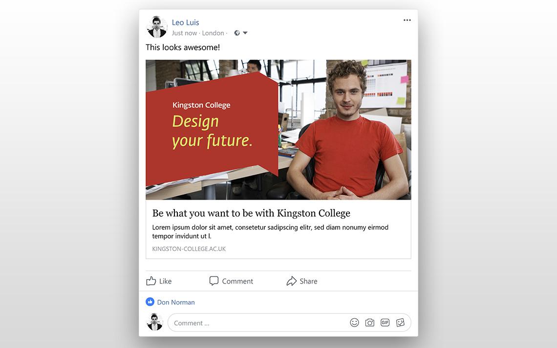 Kingston College Social Posts - Art & Design