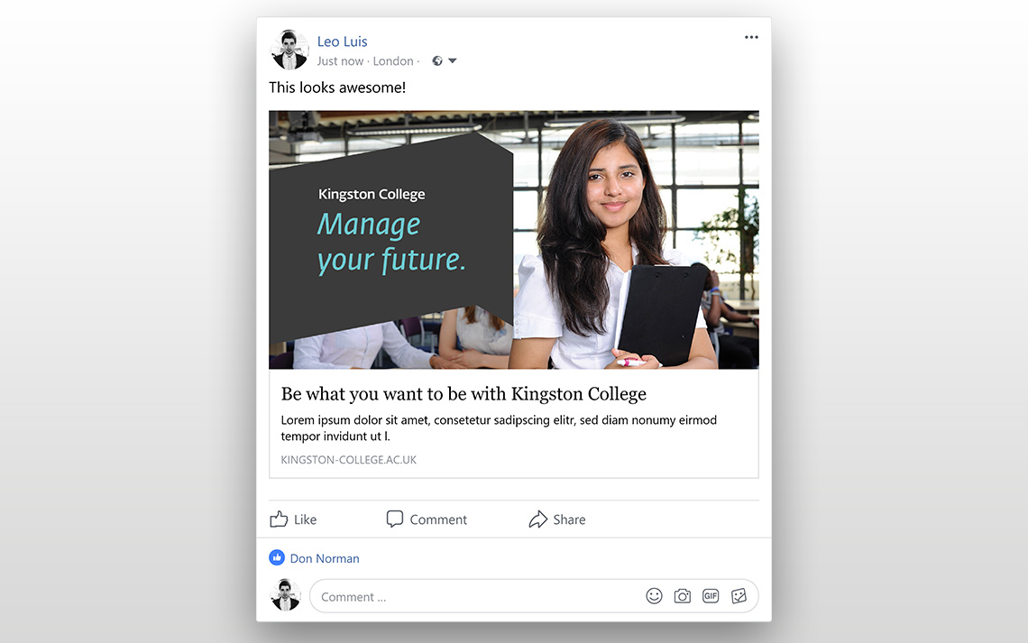 Kingston College Social Posts - Business