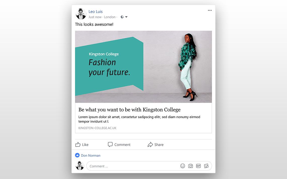Kingston College Social Posts - Fashion
