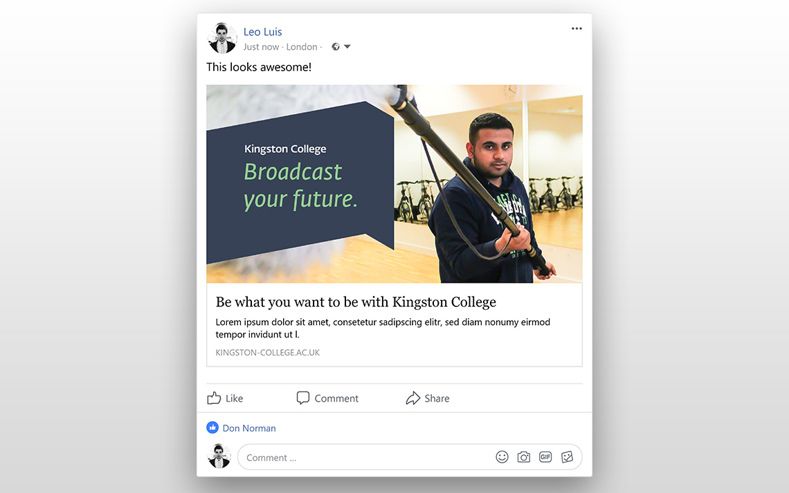 Kingston College Social Posts - Media