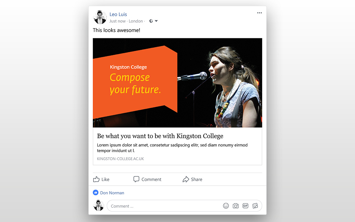 Kingston College Social Posts - Music